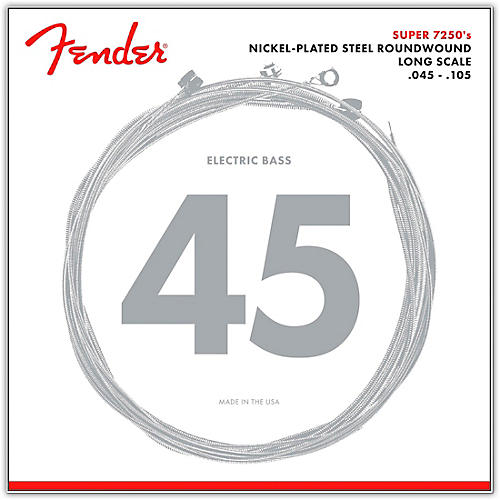 Fender 7250M Super Bass Nickel-Plated Steel Long Scale Bass Strings - Medium