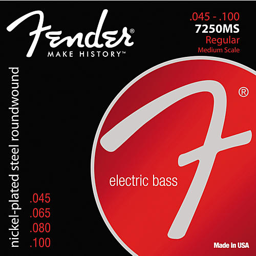 Fender 7250MS Super Bass Nickel-Plated Steel Medium Scale Bass Strings