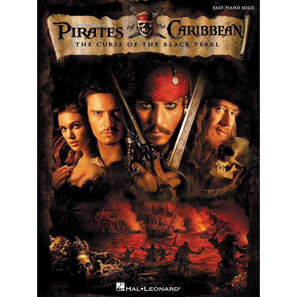 Hal Leonard Pirates Of The Caribbean - The Curse Of The Black Pearl For Easy Piano Solo 1275425409755