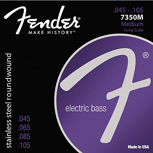 Fender 7350M Stainless Steel Long Scale Bass Strings - Medium
