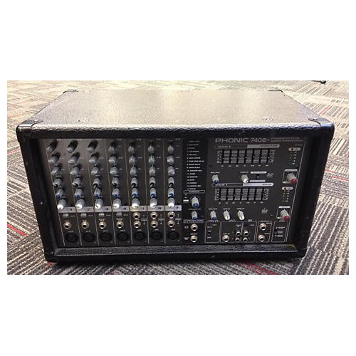 Phonic 740 Plus 2X220W 7 Channel Powered Mixer-thumbnail