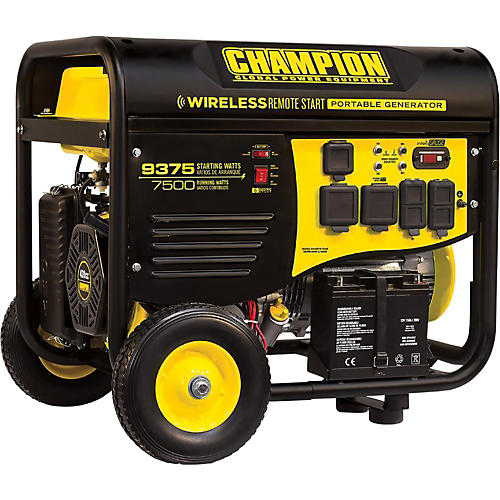 Champion Power Equipment 7500 / 9375 Watt Portable Gas-Powered Remote Start Generator