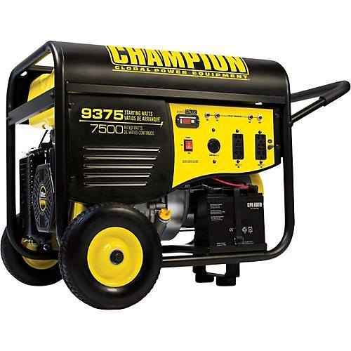 Champion Power Equipment 7500/9375 Watt Portable Gas-Powered Electric Start Generator with 25 foot Power Cord-thumbnail