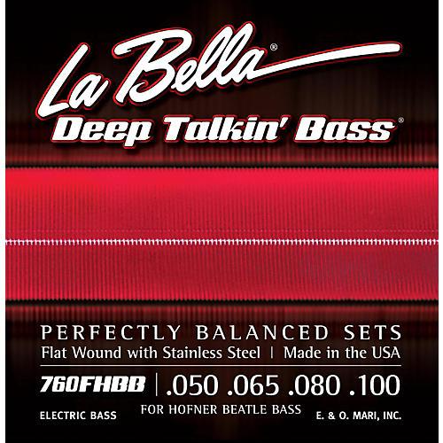 LaBella 760FHBB Beatle Bass Flat Wound Standard Electric Bass Strings-thumbnail