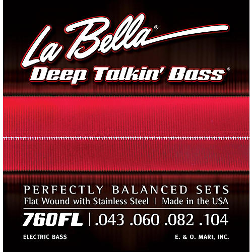 LaBella 760FL Deep Talkin' Bass Flat Wound Light Electric Bass Strings-thumbnail