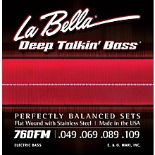 LaBella 760FM Deep Talkin' Bass Flat Wound Medium Electric Bass Strings