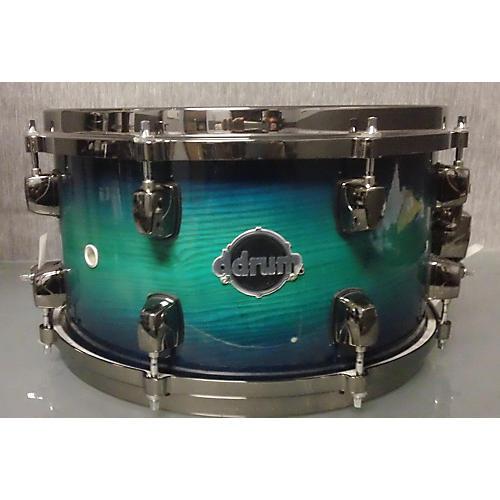 Ddrum 7X13 Dominion Ash Blue Turquoise Fade Drum-thumbnail