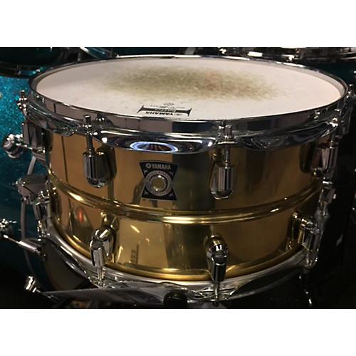 used yamaha 7x14 brass snare drum guitar center. Black Bedroom Furniture Sets. Home Design Ideas