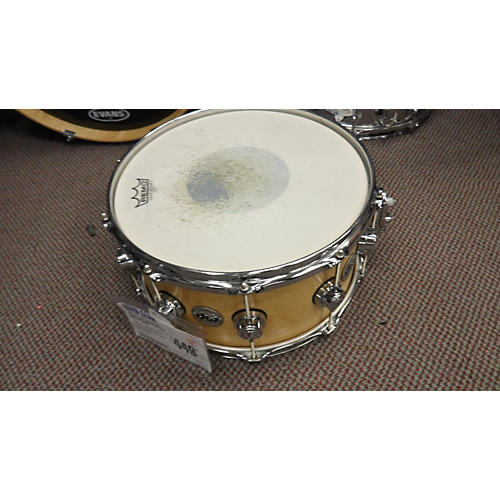 DW 7X14 Collector's Series Maple Snare Drum NATURAL SATIN OIL 17
