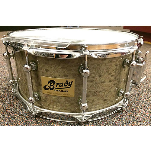 In Store Used 7X14 Jarrah Solid Shell Snare Drum-thumbnail
