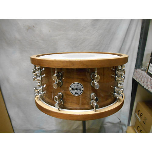 PDP by DW 7X14 Limited Edition Dark Stain Walnut And Maple Drum-thumbnail