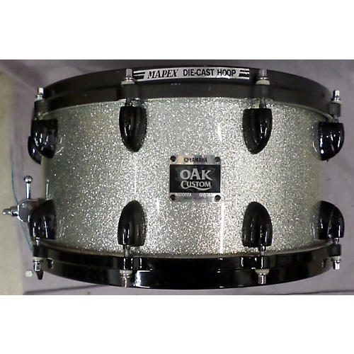 Yamaha 7X14 OAK CUSTOM SNARE Drum Silver Sparkle 17