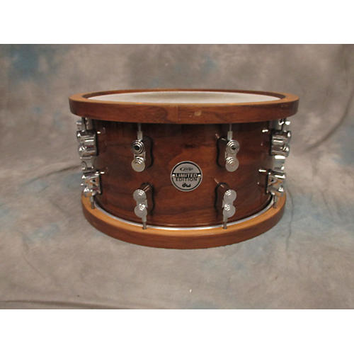 PDP by DW 7X14 PDP Limited Edition Dark Stain Walnut And Maple Snare With Walnut Hoops And Chrome Hardware Drum-thumbnail