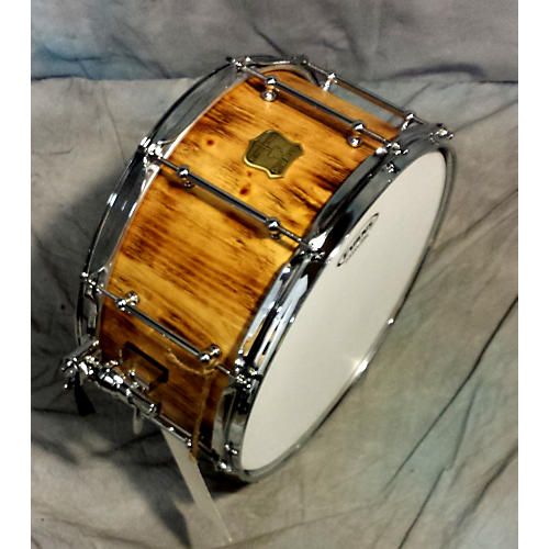 OUTLAW DRUMS 7X14 Stave Snare Drum With Chrome Hardware Drum