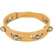 "CP 8"" Headless Single Row Wood Tambourine"