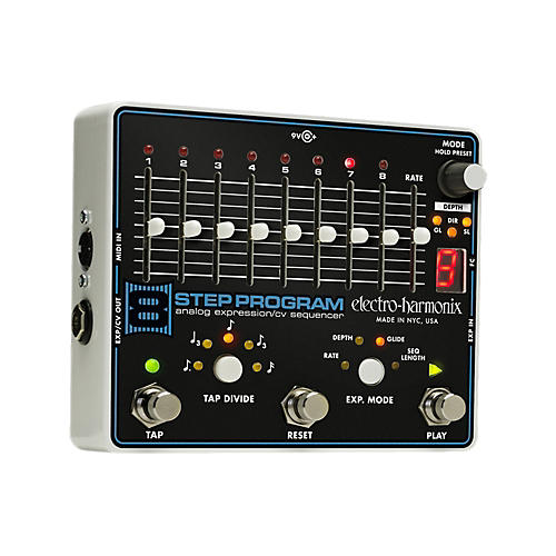 Electro-Harmonix 8-Step Program Analog Expression Sequencer Guitar Effects Pedal-thumbnail