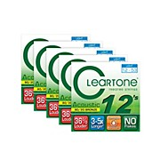 Cleartone 80/20 Bronze Coated Acoustic Guitar Strings Light (5-Pack)