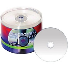 Taiyo Yuden 80 Minute/700 MB CD-R 52X Silver Thermal (Hub Printable-Everest) 100 Disc Spindle Regular