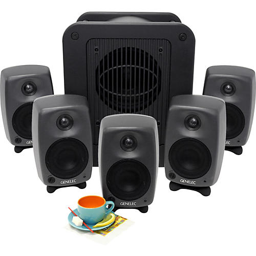 Genelec 8020 LSE Espresso Five 8020s and one 7050B sub