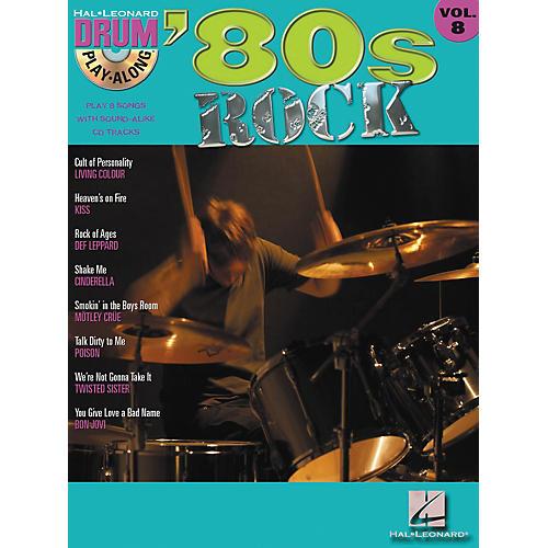 Hal Leonard '80s Rock Drum Play-Along Volume 8 - Book/CD