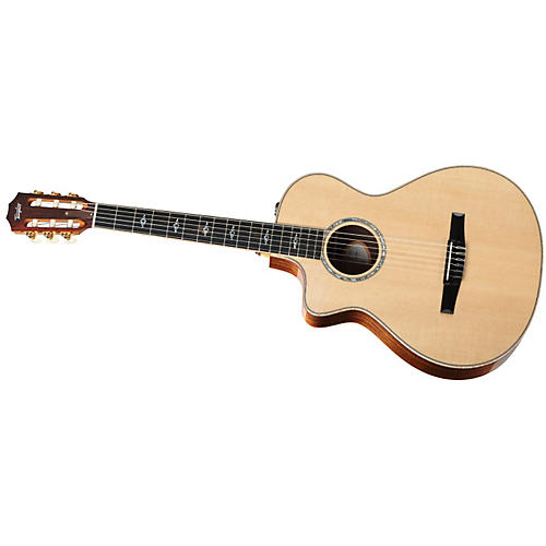 Taylor 812ce-N-L Rosewood/Spruce Nylon String Grand Concert Left-Handed Acoustic-Electric Guitar-thumbnail
