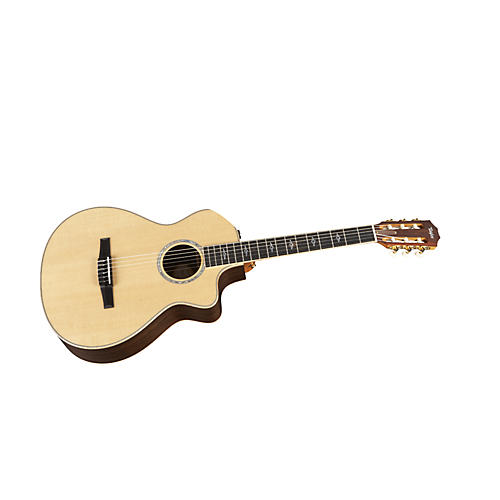 Taylor 812ce-N Rosewood/Spruce Nylon String Grand Concert Acoustic-Electric Guitar Natural