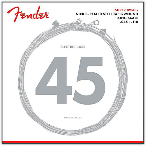 Fender 8250M Nickel-Plated Steel Taperwound Bass Strings - Medium-thumbnail