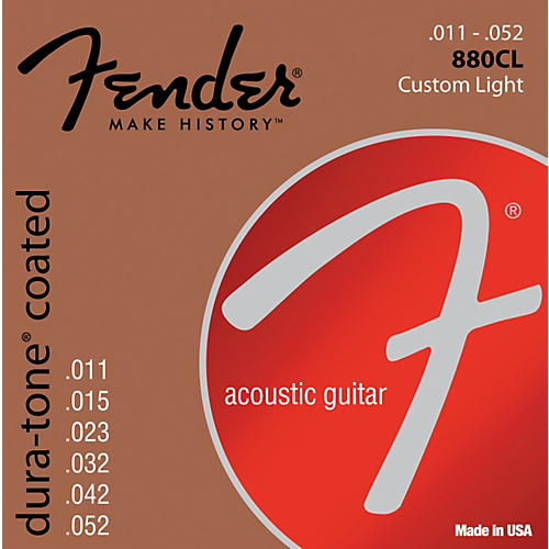 Fender 880CL Coated 80/20 Bronze Acoustic Guitar Strings - Custom Light-thumbnail