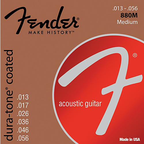 Fender 880M Coated 80/20 Bronze Acoustic Guitar Strings - Medium-thumbnail