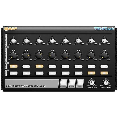 Tek'it Audio 8EQF 8-Band Semi-Parametric Equalizer Plug-in Software Download