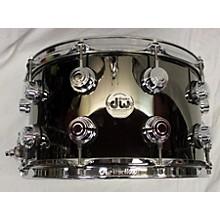 DW 8X14 Collector's Series Black Nickel Over Brass Drum