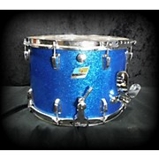 Ludwig 8X15 1970 Ludwig Marching Snare Blue Sparkle Drum