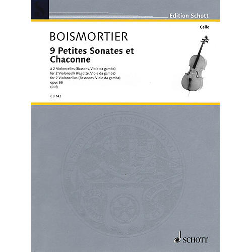 Schott 9 Little Sonatas and Chaconnes (2 Cellos) Schott Series
