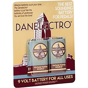 Danelectro 9-Volt Vintage Style Batteries 2 Pack by Danelectro
