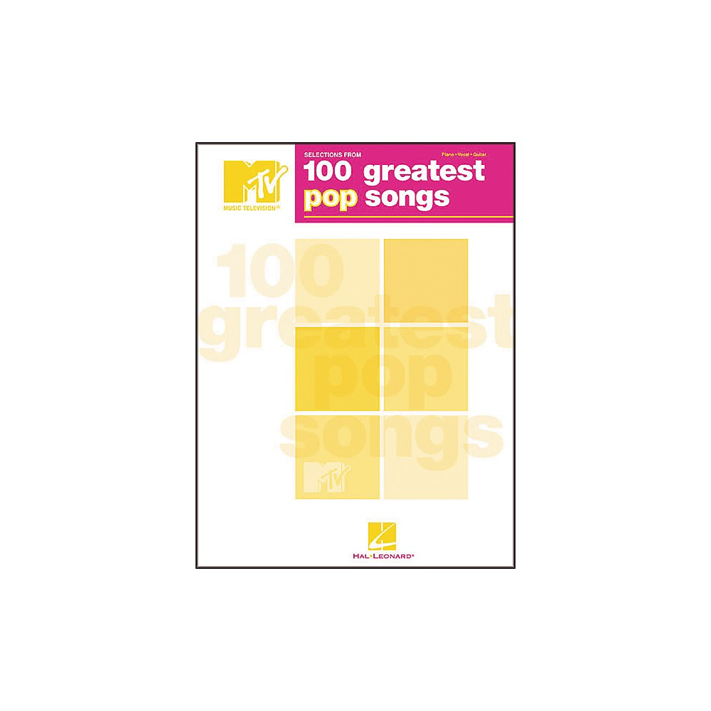 Selections From Mtvs 100 Greatest Pop Songs [Book] 1274034475740