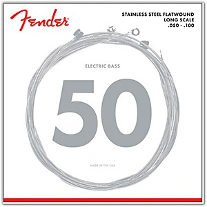 Fender 9050ML Stainless Steel Flatwound Long Scale Bass Strings - Medium Li...