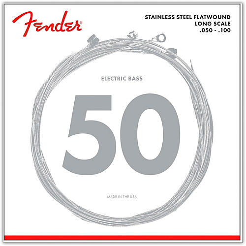 Fender 9050ML Stainless Steel Flatwound Long Scale Bass Strings - Medium Light-thumbnail