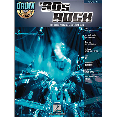 Hal Leonard 90s Rock - Drum Play-Along Volume 6 Book/CD-thumbnail