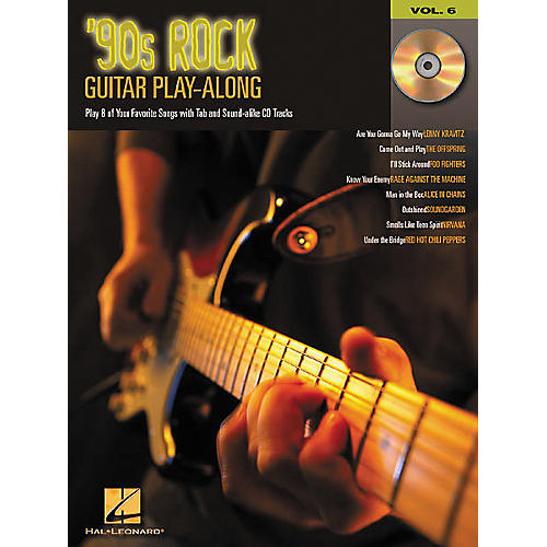 Hal Leonard 90s Rock Guitar Play-Along Series Book with CD-thumbnail