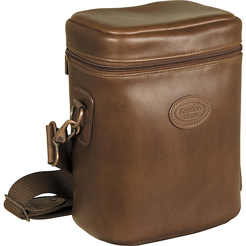Reunion Blues 921 Series Fabric Multiple Brass Mute Bag Chestnut Brown Leather