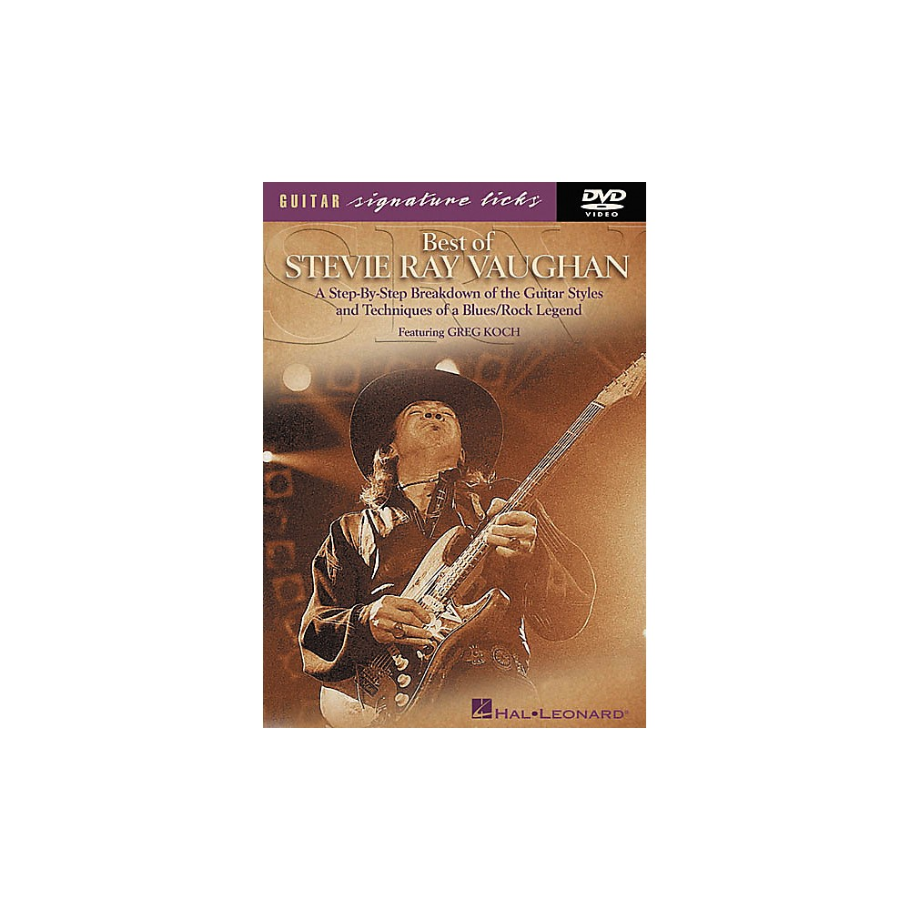 Hal Leonard Best of Stevie Ray Vaughan Signature Licks (DVD) 1274034475883