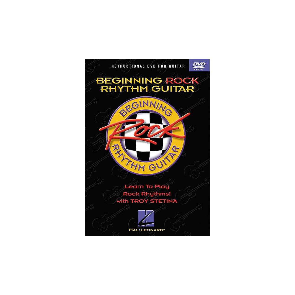 Hal Leonard Beginning Rock Rhythm Guitar (Dvd) 1274034470596