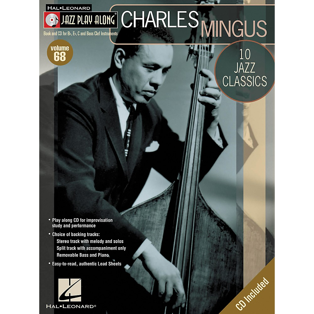 Hal Leonard Charles Mingus Jazz Play Along Volume 68 Book With Cd 1274034474756