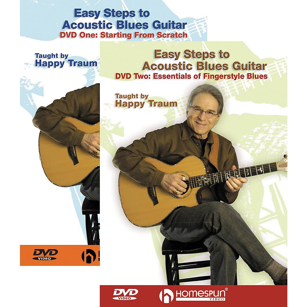 Homespun Easy Steps to Acoustic Blues Guitar 2 DVD Set 1274034477101