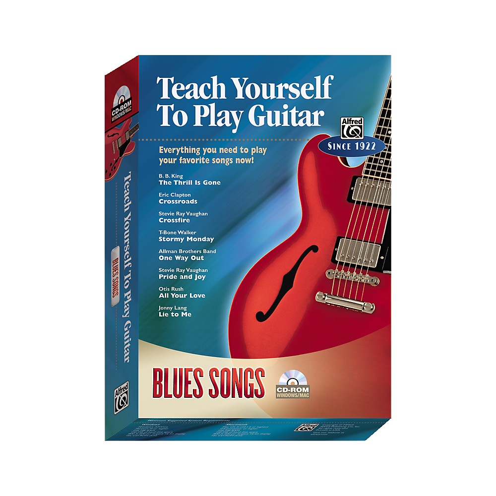 Alfred Teach Yourself To Play Guitar: Blues Songs (Cd-Rom) 1273887984550