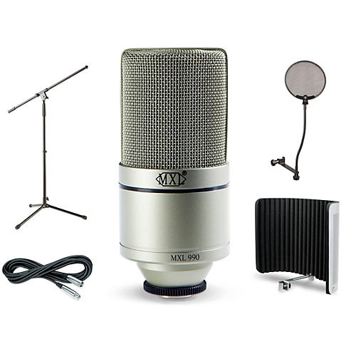 MXL 990 VS1 Stand Pop Filter and Cable Kit-thumbnail