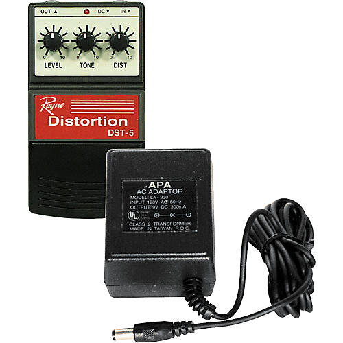 Ace Products 9V Power Supply & Rogue DST-5 Distortion Pedal Upside Down Package