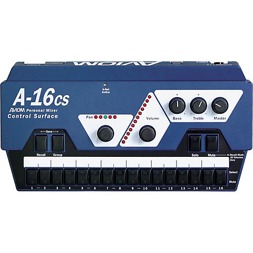 Aviom A-16CS Control Surface Remote Control for A-16R Mixer Aviom Blue