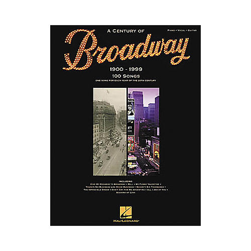 Hal Leonard A Century of Broadway Piano, Vocal, Guitar Songbook-thumbnail