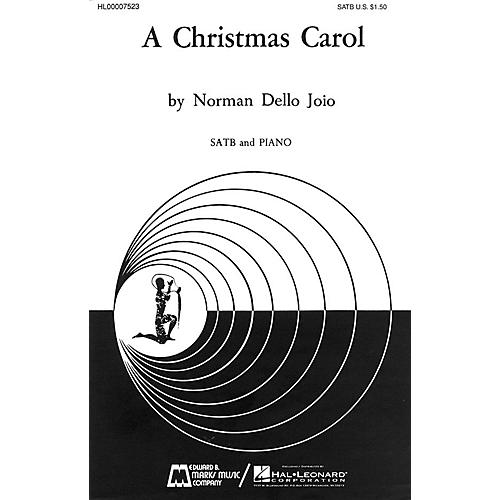 Edward B. Marks Music Company A Christmas Carol SATB composed by Norman Dello Joio